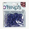 Jumpring, aluminum, dark purple, 15mm round, 12 gauge. Sold per pkg of 90.