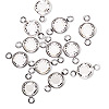 Link, Swarovski crystal and silver-plated brass, Crystal Passions®, crystal clear, 6.14-6.32mm faceted round, SS29. Sold per pkg of 48.