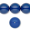 Pearl, Swarovski crystal gemcolors, dark lapis, 16mm round with 1.3-1.5mm hole (5811). Sold per pkg of 5.