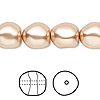Pearl, Swarovski crystal, rose gold, 12mm baroque (5840). Sold per pkg of 100.