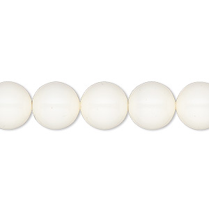 Pearl, Swarovski® crystal gemcolors, ivory, 10mm round (5810). Sold per pkg of 25.