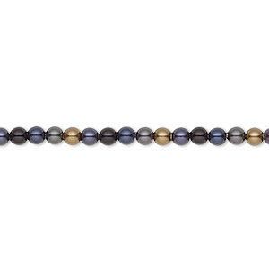 Pearl, Swarovski® crystals, Mystery, 3mm round (5810). Sold per pkg of 100.