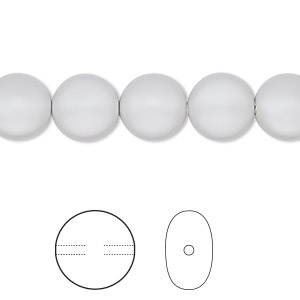 Swarovski Crystal Beads Coin Pearl 5860 Grey 10mm Package of 10