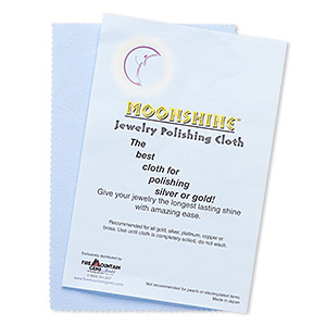 Polishing cloth, Moonshine®, blue, 7-1/2 x 5 inches. Sold individually.
