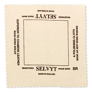 Polishing cloth, Selvyt®, 5x5-inch square. Sold individually.