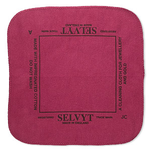 Polishing cloth, Selvyt®, red, 10x10-inch square. Sold individually.