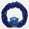 Seed bead, Blue Moon Beads®, glass, cobalt, #6. Sold per pkg of (8) 14-inch strands.
