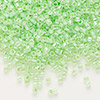Seed bead, Delica®, glass, ceylon color-lined limeade, (DB237), #11 round. Sold per 7.5-gram pkg.
