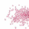 Seed bead, Delica®, glass, color-lined hot pink, (DB902CUT), #11 cut. Sold per 50-gram pkg.