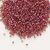 Seed bead, Delica®, glass, color-lined rhubarb, (DB283), #11 round. Sold per 50-gram pkg.