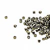 Seed bead, Delica®, glass, metallic olive, (DB11CUT), #11 cut. Sold per pkg of 50 grams.