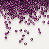 Seed bead, Delica®, glass, nickel-finished fuchsia, (DB463), #11 round. Sold per 50-gram pkg.