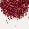 Seed bead, Delica®, glass, opaque brick red, (DB654), #11 round. Sold per 50-gram pkg.