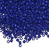 Seed bead, Delica®, glass, opaque cobalt blue, (DBL726), #8 round, 1.5mm hole. Sold per 7.5-gram pkg.