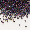 Seed bead, Delica®, glass, opaque iris purple, (DB4), #11 round. Sold per pkg of 7.5 grams.