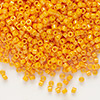 Seed bead, Delica®, glass, opaque light orange, (DB651), #11 round. Sold per 7.5-gram pkg.