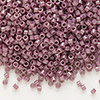 Seed bead, Delica®, glass, opaque luster fig brown, (DB265), #11 round. Sold per pkg of 50 grams.
