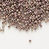 Seed bead, Delica®, glass, opaque matte metallic luster rainbow rose, (DB1061), #11 round. Sold per pkg of 7.5 grams.