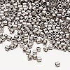 Seed bead, Delica®, glass, opaque matte nickel-finished silver, (DBL321), #8 round. Sold per 50-gram pkg.