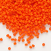 Seed bead, Delica®, glass, opaque matte orange, (DB752), #11 round. Sold per pkg of 250 grams.