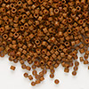 Seed bead, Delica®, glass, opaque matte tree bark brown, (DB794), #11 round. Sold per 7.5-gram pkg.