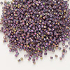 Seed bead, Delica®, glass, opaque metallic luster rainbow rhubarb, (DB1014), #11 round. Sold per pkg of 7.5 grams.