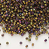 Seed bead, Delica®, glass, opaque metallic rainbow bronze, (DB23), #11 round. Sold per 50-gram pkg.