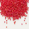 Seed bead, Delica®, glass, opaque rainbow red, (DB214), #11 round. Sold per pkg of 50 grams.