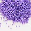 Seed bead, Delica®, glass, opaque red violet, (DB1379), #11 round. Sold per 7.5-gram pkg.