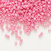 Seed bead, Delica®, glass, opaque rose, (DB1371), #11 round. Sold per 7.5-gram pkg.