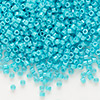 Seed bead, Delica®, glass, opaque turquoise green, (DB658), #11 round. Sold per 50-gram pkg.