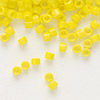 Seed bead, Delica®, glass, opaque yellow, (DB721), #11 round. Sold per pkg of 7.5 grams.