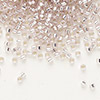 Seed bead, Delica®, glass, silver-lined light pink, (DB1433), #11 round. Sold per pkg of 50 grams.