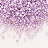 Seed bead, Delica®, glass, silver-lined opal light purple, (DB629), #11 round. Sold per 50-gram pkg.