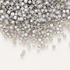 Seed bead, Delica®, glass, silver-lined opal periwinkle, (DB1455), #11 round. Sold per pkg of 50 grams.