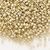 Seed bead, Delica®, glass, silver-lined opal tan, (DB1458), #11 round. Sold per pkg of 7.5 grams.