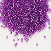 Seed bead, Delica®, glass, silver-lined red violet, (DB1345), #11 round. Sold per 50-gram pkg.