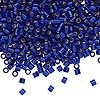 Seed bead, Delica®, glass, silver-lined transparent cobalt blue, (DBL47), #8 round, 1.5mm hole. Sold per pkg of 50 grams.