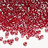 Seed bead, Delica®, glass, transparent luster fuchsia, (DBL98), #8 round. Sold per 7.5-gram pkg.