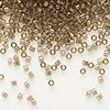 Seed bead, Delica®, glass, transparent luster smoke, (DB123), #11 round. Sold per pkg of 7.5 grams.