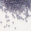 Seed bead, Delica®, glass, transparent matte luster violet, (DB386), #11 round. Sold per pkg of 50 grams.