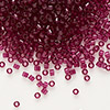 Seed bead, Delica®, glass, transparent raspberry, (DB1312), #11 round. Sold per 50-gram pkg.