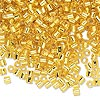 Seed bead, Delica®, glass, transparent silver-lined yellow, (DBL145), #8 round, 1.5mm hole. Sold per pkg of 7.5 grams.