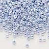 Seed bead, Dyna-Mites™, glass, ceylon pastel light blue, #8 round. Sold per 40-gram pkg.