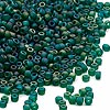 Seed bead, Dyna-Mites™, glass, frosted rainbow peacock, #11 round. Sold per 1/2 kilogram pkg.