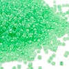 Seed bead, Dyna-Mites™, glass, inside color matte matte inside color mint green, #11 round. Sold per 1/2 kilogram pkg.