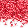 Seed bead, Dyna-Mites™, glass, inside color red, #6 round. Sold per 1/2 kilogram pkg.