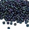 Seed bead, Dyna-Mites™, glass, iris blue, #6 round. Sold per 1/2 kilogram pkg.