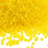 Seed bead, Dyna-Mites™, glass, matte transparent, yellow, #11 round. Sold per 1/2 kilogram pkg.