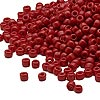 Seed bead, Dyna-Mites™, glass, opaque brick red, #8 round. Sold per 1/2 kilogram pkg.